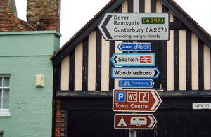 traffic signs sandwich kent