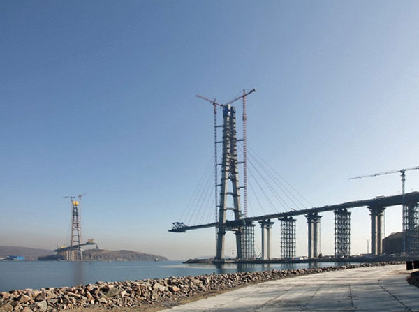 Russky Island Bridge was opened to traffic in July 2012.