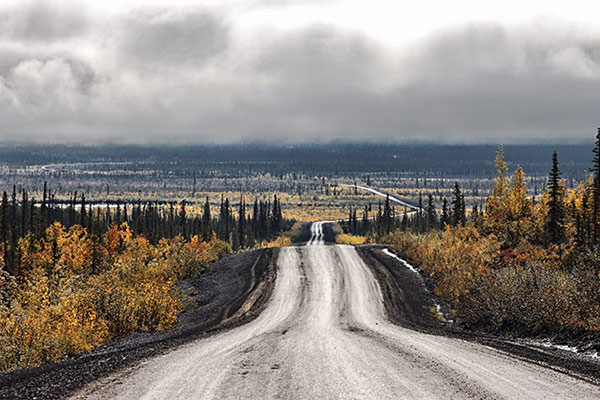 The coast to coast road network in Canada will be finished, upon construction of the Inuvik-Tuktoyaktuk highway. Image courtesy of Government of Canada.