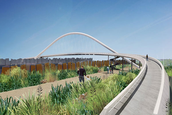 The project will involve the construction of bridges and installation of noise barriers. Image courtesy of NZTA.