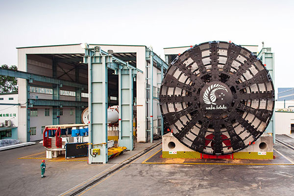 The tunnel boring machine (TBM) for the project will be transported to the project site in eight pieces. Image courtesy of NZTA.
