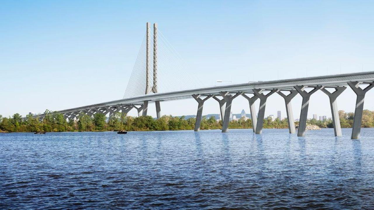The Samuel De Champlain Bridge corridor was opened to traffic June 2019. Credit: Ramboll.