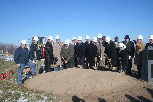 The ground-breaking ceremony of the project was held in January 2013. Image courtesy of Missouri Department of Transportation.