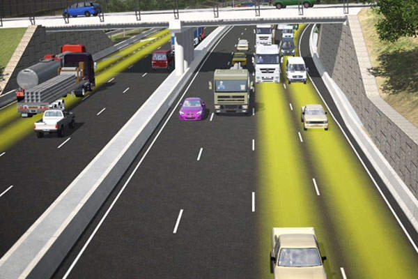 Artist's impression of the WestConnex roadway. Image courtesy of Roads and Maritime Services.