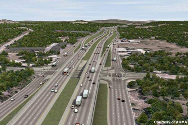 Rendering of the intersection at Bulvedere Road with the 281.