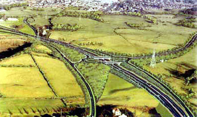 Artists impression of part of the finished road system – the M77 / GSO will improve an important part of Scotland's strategic road network.