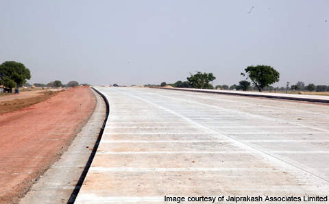 The Yamuna Expressway (previously known as Taj Expressway) is a 165.5km motorway in the Indian state of Uttar Pradesh to be completed in August 2012.
