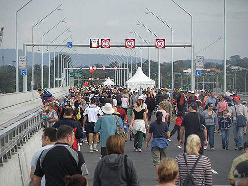 Ted Smout Memorial Bridge opening celebrations.
