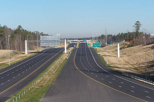 The Triangle Expressway is the first all cashless toll road constructed in the US state of North Carolina. Image courtesy of N.C. Department of Transportation.