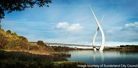 The New Sunderland Bridge would be the tallest in the UK.