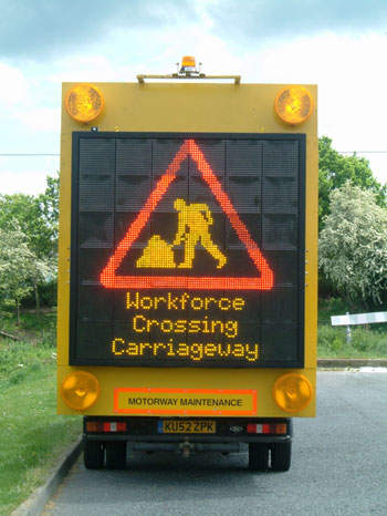 Image of a Mobile Variable Message Sign