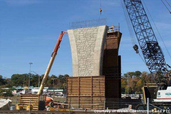 The bridge construction project is part of a total reconstruction of Interstate 76.