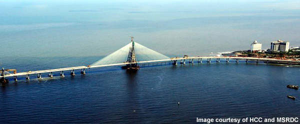 The Bandra Cable-Stay Bridge will be opened in January 2009.