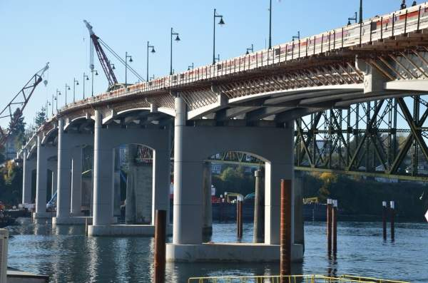 The Manette replacement bridge connects the community of Manette to downtown Bremerton in the Kitsap County of Washington. Image courtesy of WSDOT (Washington State Dept of Transportation).