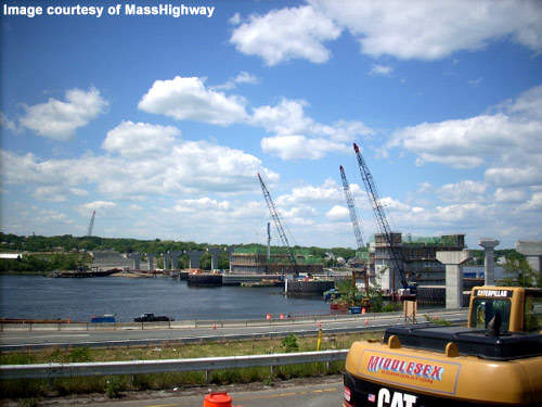 The bridge construction has been delayed several times.
