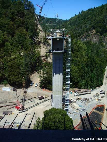 Construction of the south Confusion Hill bridge is 50% completed.