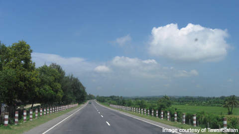 The Daudkandi to Chittagong section on Dhaka-Chittagong two-lane National Highway will be expanded to a four-lane divided road.