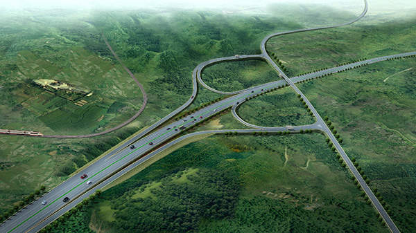 Addis Adaba Adama expressway is the first expressway and first toll road in the country. Image courtesy of Ethiopian Roads Authority.