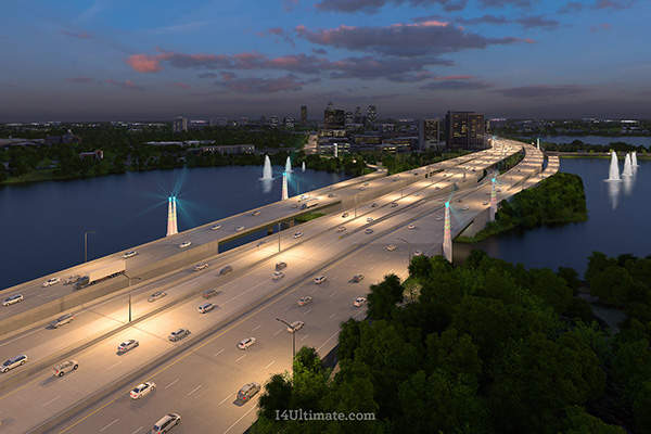 The I-4 Ultimate improvement project will reconstruct 21 miles of the Interstate-4 between Kirkman Road and the State Road 434. Image courtesy of I-4 Mobility Partners.