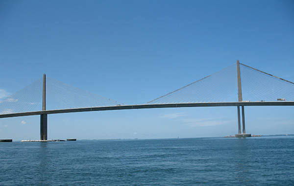 The Sunshine Skyway Bridge is 6.7km long.