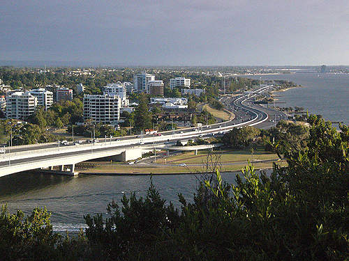 Kwinana Freeway is a 78km road located in Perth, Western Australia.