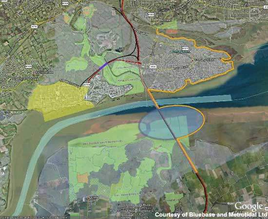 The new Medway-Canvey Island crossing is still at the design stage, but a proposal has been made to the DfT and the EA.