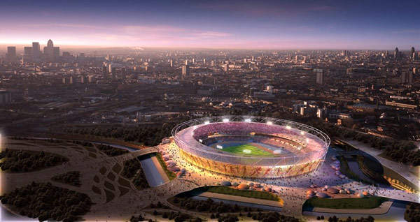 The Olympic Park site will be surrounded by an 11km loop road.