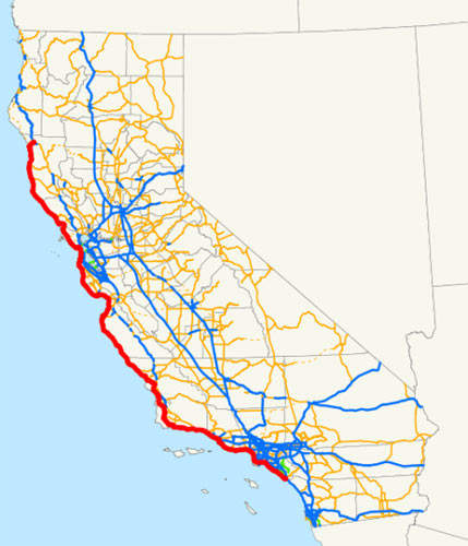 The Devil's Slide Tunnels project is taking place on part of the route of the Pacific Coast Highway.