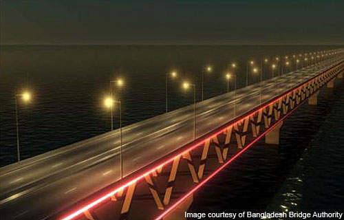 The Padma Bridge is a multipurpose road-rail bridge.