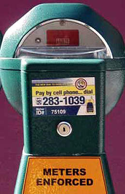 One of the sticker modified meters.
