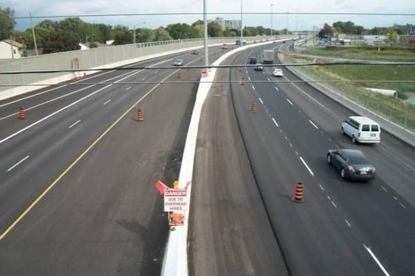 The Queen Elizabeth Way is a major highway located in southwest Ontario, Canada. Image courtesy of the Ministry of Transportation Ontario.
