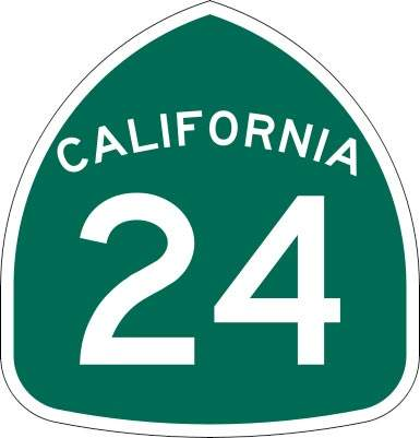 The Caldecott tunnel runs along State Route 24.