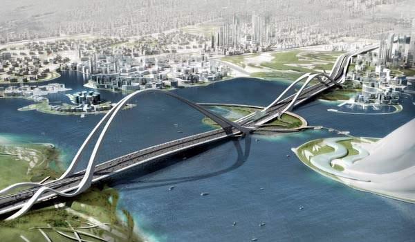 The Sheikh Rashid Bin Saeed Crossing is a 1.6km arch-type bridge.