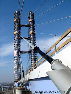 The new Strelasund Crossing uses new technology for cables.