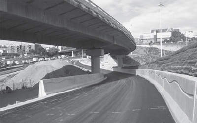 SHI to Nelson Street off-ramp.