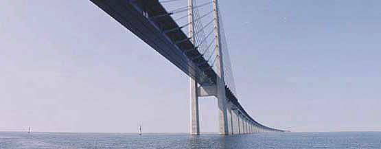 A view of the Oresund bridge.