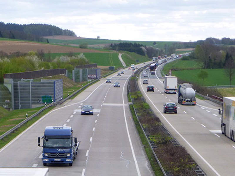 The A7 motorway in Germany receives high share of vehicular, weekend and holiday traffic. Image courtesy of VINCI.