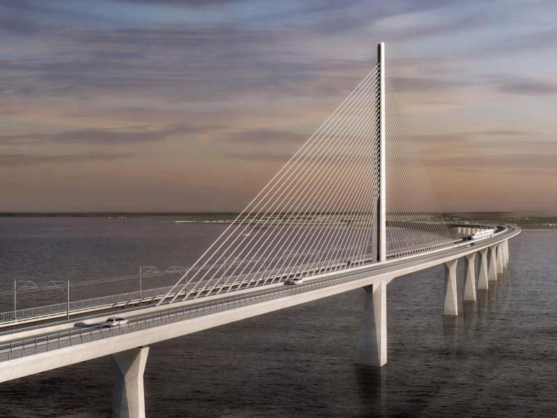 Storstrøm Bridge will link Zealand and the island of Falster via Masnedø. Image courtesy of Vejdirektoratet.