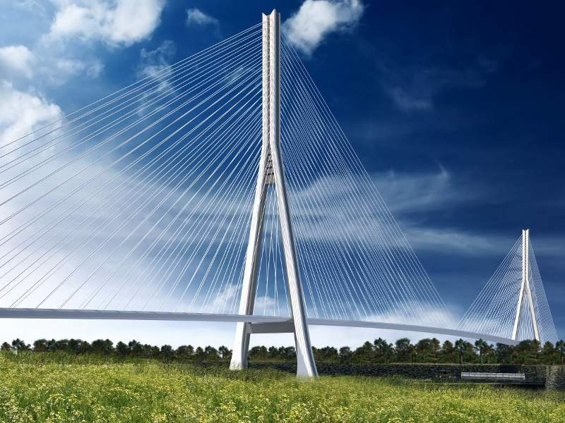 The Gordie Howe International Bridge over Detroit River will connect Canada with the US. Image courtesy of the Windsor-Detroit Bridge Authority.