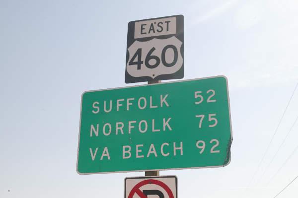 U.S. Route 460 is a highway that extends between Norfolk in Virginia and Frankfort in Kentucky.
