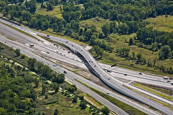 Rt. Hon. Herb Gray Parkway is an 11km-long freeway being developed by Ontario's Ministry of Transportation. Image courtesy of Rt. Hon. Herb Gray Parkway project team.