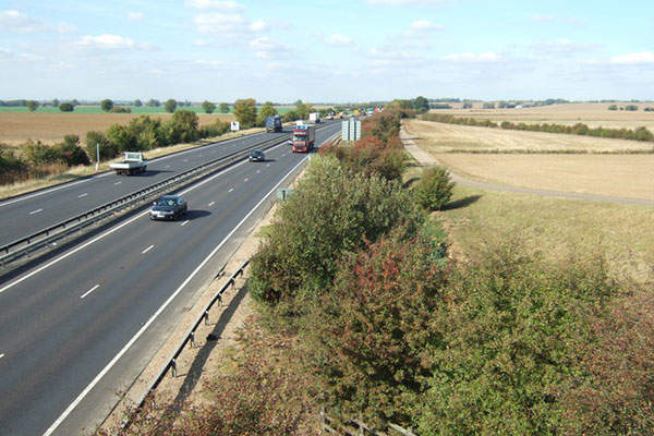 The A14 Cambridge to Huntingdon improvement scheme was proposed by the UK's Highways Agency along a 33km stretch.  Image courtesy of Richard Humphrey.