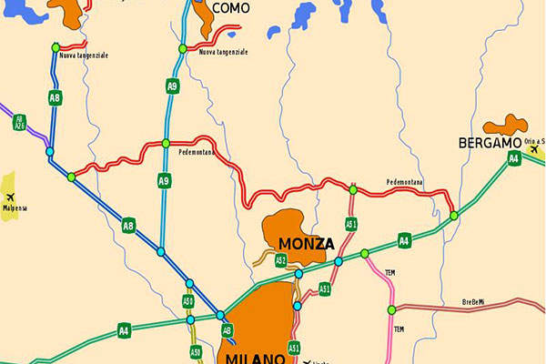 Pedemontana Lombarda Motorway will involve road construction works totaling a length of 157km. Image courtesy of Gigillo83.