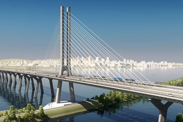 The new Champlain bridge design was unveiled in June 2015. Credit: Infrastructure Canada.