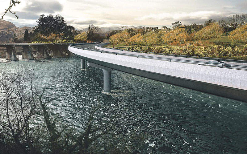 The new bridge is expected to be approximately 250m-long and 14m-wide. Image:  courtesy of NZ Transport Agency.
