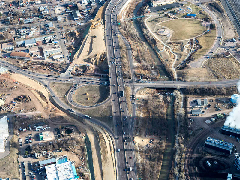 I-25 / Cimarron Street Interchange design build project is an interchange improvement project on the US National Highway 24 West in Colorado Springs. Image courtesy of Colorado Department of Transportation.