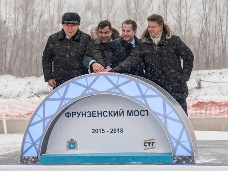 The construction of Frunzensky bridge began in November 2015. Image courtesy of PJSC Stroytransgaz.