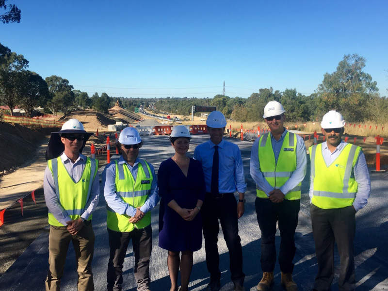 The Werrington Arterial road upgrade connects the Great Western Highway and the M4. Image courtesy of Tanya Davies MP.