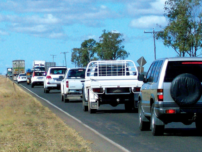 Warrego Highway is a 750km road connecting Charleville to the Ipswich motorway into Brisbane, Australia. Image courtesy of the State of Queensland (Department of Transport and Main Roads).