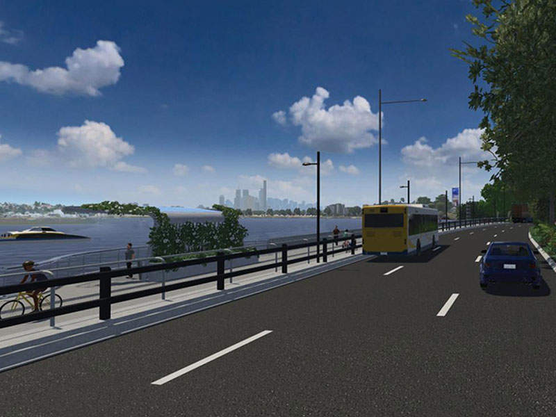 The Kingsford Smith Drive Upgrade is scheduled for completion in 2019. Image courtesy of Bicycle Queensland Inc.
